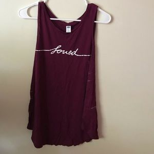 'loved' tank top